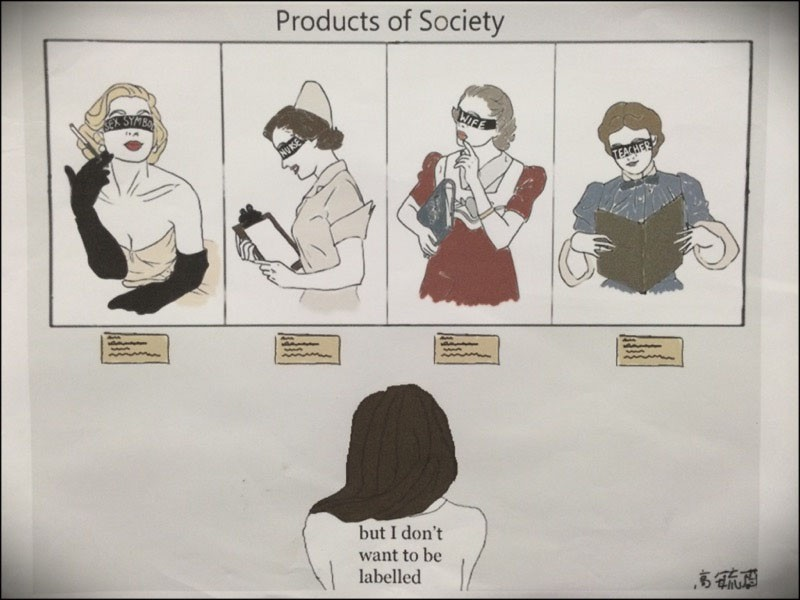A study of gender using comic book like images.