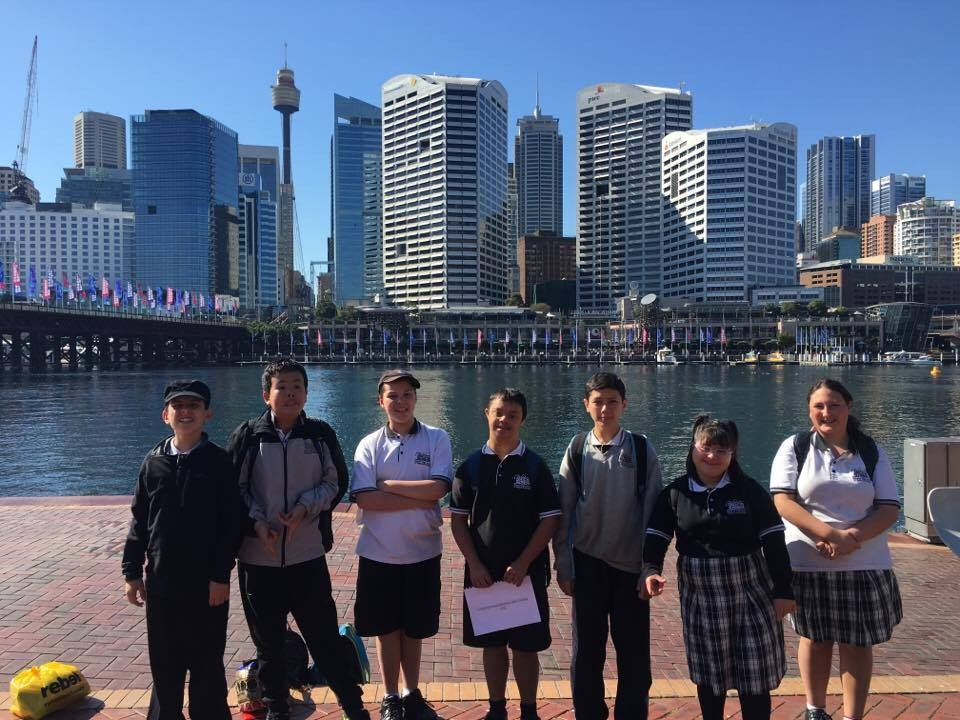 Some of our students at Darling harbour