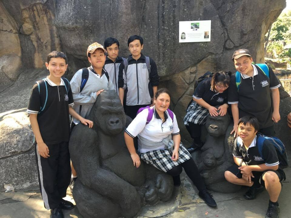 Some of our support students on the zoo trip.