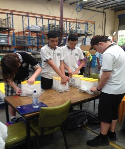 Some of our students participating in work experience.